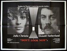 DON'T LOOK NOW 1973 Julie Christie, Donald Sutherland UK QUAD POSTER