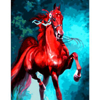 Drill DIY 5D Crafts Diamond flame Red horse Home Decor Embroidery Cross Stitch