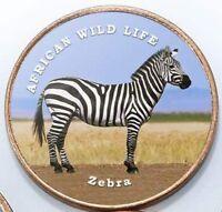 Somaliland 1 shilling 2018 UNC African Zebra unusual coin