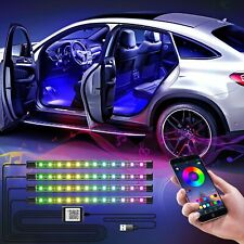 4x RGB 48 LED Innenraumbeleuchtung Auto Ambiente App Control Fußraumbeleuchtung