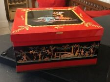 Vintage Huntley and Palmer Dolphins Biscuit Tin - Cherubs Fairy Fairies