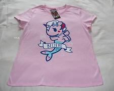 Tokidoki Believe Ladies Pink Printed Short Sleeve T Shirt Size XL New