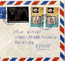 CM93 RWANDA Cover 1972 OLYMPICS 1979 ROWLAND HILL Missionary Air Mail MIVA