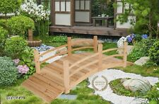 Garden Cedar Wood Bridge 6 Ft Outdoor Pond Walkway Backyard Creek Wooden Decor