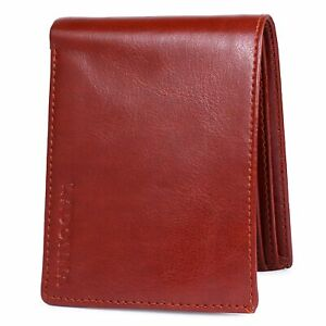 Genuine Faux Leather Mens Wallet Stylish Design Purse in Classic Brown color