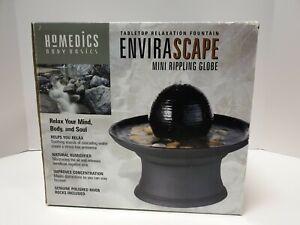 Homedics Tabletop Relaxation Fountain Envirascape Mini Rippling Globe