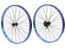 "Beach Cruiser Bicycle Bike 26""x 32mm Rear & Front wheels Coaster Brake Blue"
