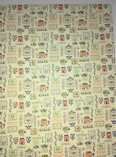 "Dollhouse Miniature Kitchen Wallpaper ""Mini Sampler"" Federal Colonial Style 1:12"