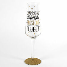 Signography Champagne Lifestyle Prosecco Budget Sparkling Flute Glass In Gift Bo