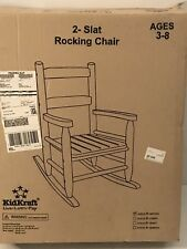 KidCraft 2 Slat Rocking Chair - Natural Color 18121 - NIB Ages 3-8