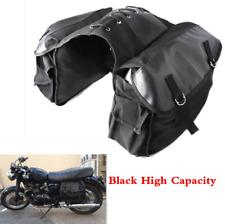 Black Universal Motorcycle Bike Bag Saddlebags For Honda Suzuki Kawasaki Yamaha
