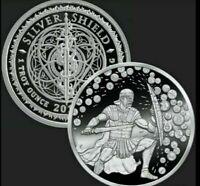 2021 1oz Crypto Crucible .999 Fine Silver Shield Bitcoin BTC Round Coin w/ COA
