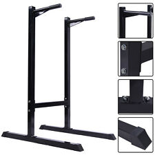 New Dipping Station Pull Push Up Stand Dip Bar Fitness Exercise Workout 500 LB
