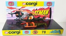 CORGI Juniors Batman BATCOPTER Diecast Model Car On Custom Repro 78 Display Base
