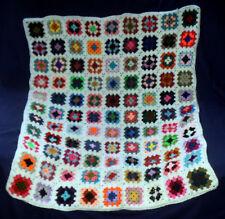 "BAXTER'S BLANKET. Handmade Crochet . Cot, Moses Basket, Car Seat, Throw 30""x36""."
