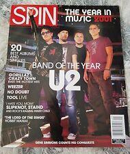 SPIN magazine January 2002 U2 Gorillaz Weezer Tool Slipknot No Doubt Staind