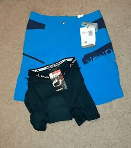 VAUDE Men's MTB Shorts With Padded Liner NEW Size Medium altissimo shorts III