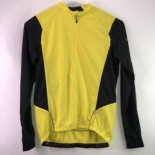 Altura Mens Long Sleeve Cycling Jersey Shirt 1/2 ZIP Black Yellow  XXL