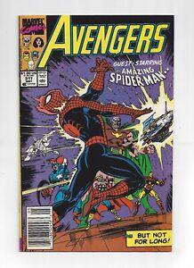 Avengers #317 May 1990 Newsstand VF Range Pressed