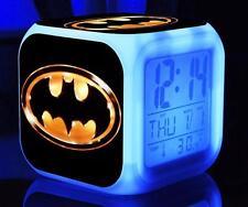 7 Color LED Night Light Alarm Clock batman Figures Watch Toy gifts B-01
