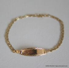 Bracelet Or 18k 750 Identité Bébé Marine - 2grs - Bijoux occasion