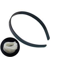 10pcs 12mm Blank Plain Plastic Headbands DIY Hair Band Accessory PM