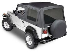 Premium Replacement Soft Top kit for 1988-1995 Jeep Wrangler YJ in Black Denim