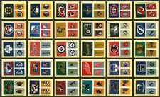 $1.99 each 2011-12 Fabric Team Logo Singles Panini /36 NHL Hockey Stickers