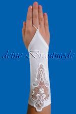 Kommunionhandschuhe Handschuhe Kommunion Kommunionshandschuhe Spitze Perlen