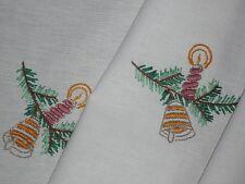 Weihnachtsdecke Tischdecke 148/ 96 cm  Handarbeit
