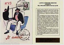 #BOLOGNA- CERVELLATI (CARICATURA) PER CENTENARIO TRASP. PUBBLICO URBANO-1977