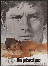 "LA PISCINE Alain Delon Romy Schneider French 45""x63"" RARE Style B filmartgallery"