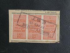 FRANCE COLIS POSTAUX : 1918/23 YVERT N° 30 - 15 CENTIMES VERMILLON BANDE DE 3
