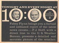 WBBM CHICAGO TV NEWS AD~FAHEY FLYNN & P.J.HOFF WEATHER~CHANNEL 2
