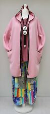 """STUNNING FLEECE HOODED JACKET BY AKH GERMANY*BABY PINK*BUST UP TO 58""""XL-XXL-XXXL"""