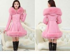 2017 Women's Winter cotton Down Jacket Parka PU Coat Fur Collar Hooded size 2XL