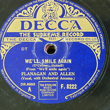 78rpm FLANAGAN & ALLEN we`ll smile again / don`t ever walk in the shadows