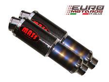 Kawasaki Z1000 2003-2006 MassMoto Double Silencieux M1 MotoGP Style Carbone Neuf
