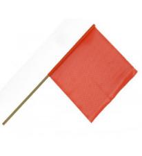 "New listing 12 Pack of Stick Warning Flags 24"", 5/8"" stick Orange Oversize Load Pilot Car"