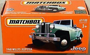 Matchbox 1948 Willys Jeepster Green 2021 New