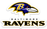 Baltimore Ravens Logo Type Magnet:          Baltimore Ravens NFL Football MAGNET