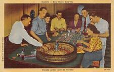 Roulette Casino Gambling Nevada Postcard (c. 1930s) (Ds)