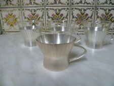 4 WMF Design Teeglas Groggläser Bowleglas Tasse Glas Heißgetränk Versilbert