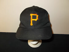 VTG-1980s Pittsburgh Pirates MLB Official Stadium mesh trucker snapback hat sku3