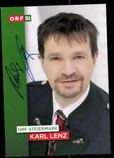 Karl Lenz ORF Autogrammkarte Orignial Signiert # BC 51592