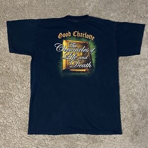 Good Charlotte The Chronicles Of Life And Death T-Shirt Size Medium M 2004 Band