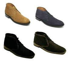 Lucini Men's Suede Lace Up Boots Uk Size 8-12 Smart Casual Formal Ankle Shoes