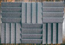 6 pc Acoustic soundproofing Foam *Slanted Tiles   2 x 12 x 12 (charcoal)