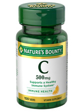 Nature's Bounty Vitamin C 500 Mg 100 Tablets Immune System Health Free Shipping