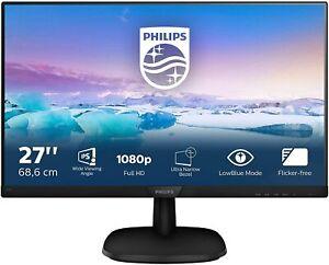 """Monitor 27"""" Philips 273V7QDSB LED IPS Full HD, 4 ms, HDMI, DVI, VGA Nuovo"""